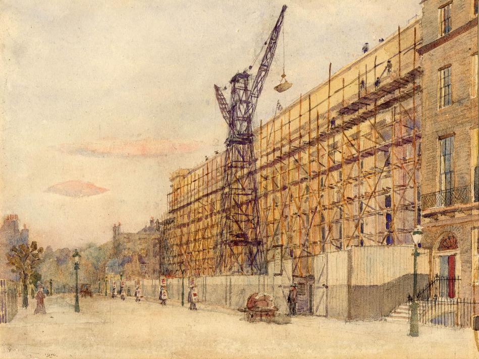 Edward VII Galleries under construction