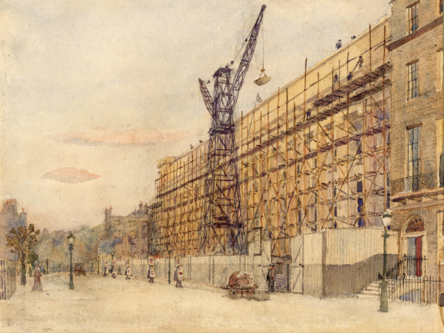 Edward VII Galleries under construction